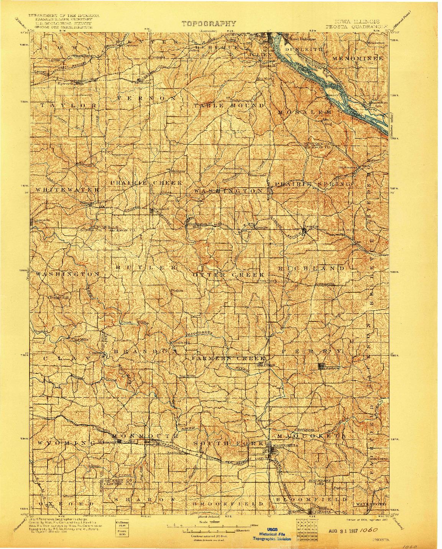 USGS 1:125000-SCALE QUADRANGLE FOR PEOSTA, IA 1901
