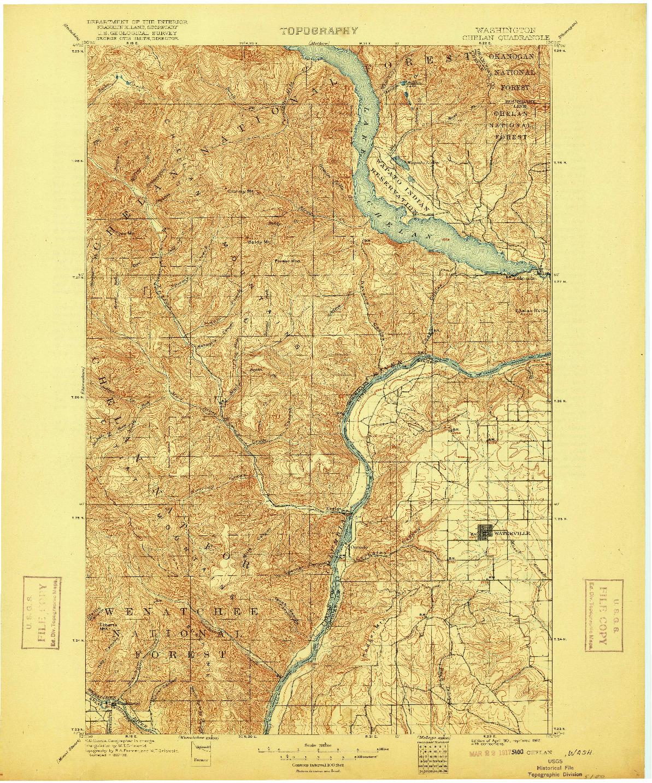 USGS 1:125000-SCALE QUADRANGLE FOR CHELAN, WA 1901