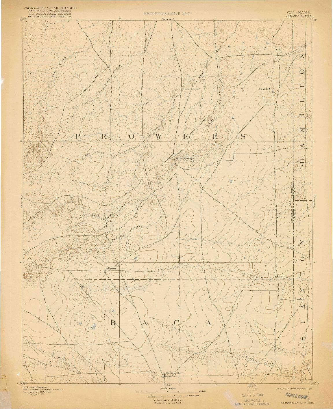 USGS 1:125000-SCALE QUADRANGLE FOR ALBANY, CO 1893