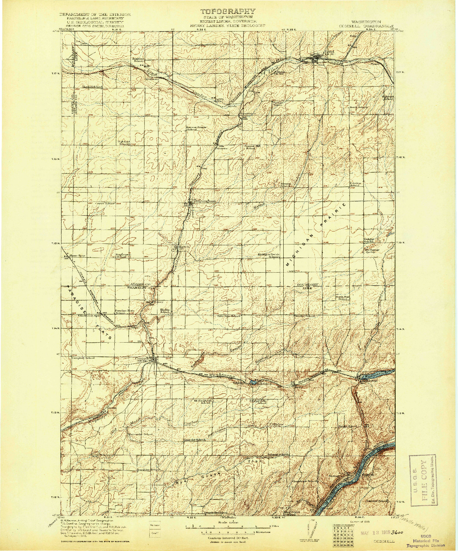USGS 1:125000-SCALE QUADRANGLE FOR CONNELL, WA 1918