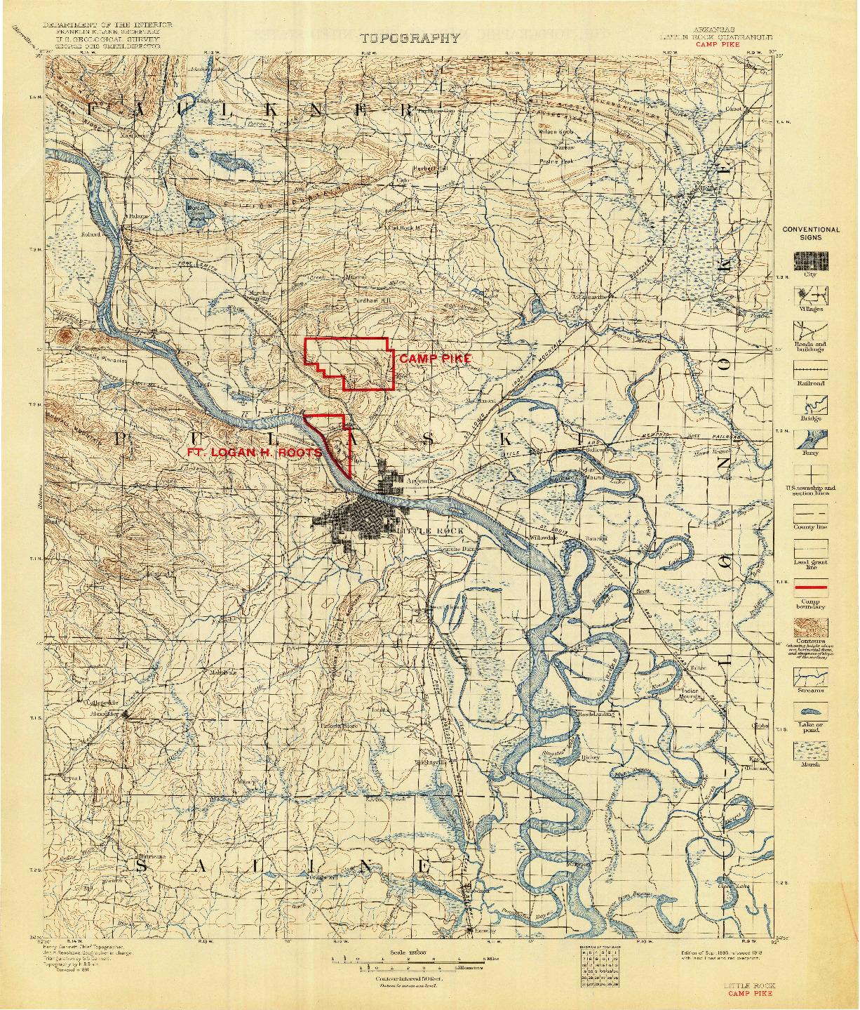 USGS 1:125000-SCALE QUADRANGLE FOR CAMP PIKE, AR 1893