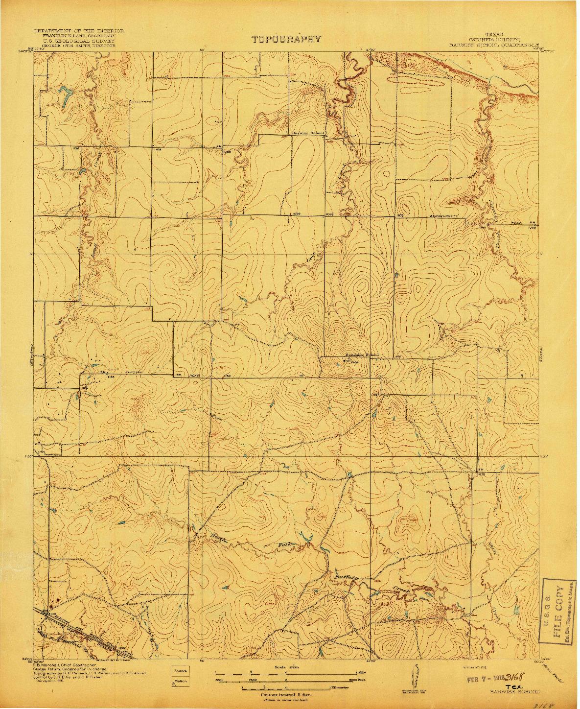 USGS 1:31680-SCALE QUADRANGLE FOR BARWISE SCHOOL, TX 1918