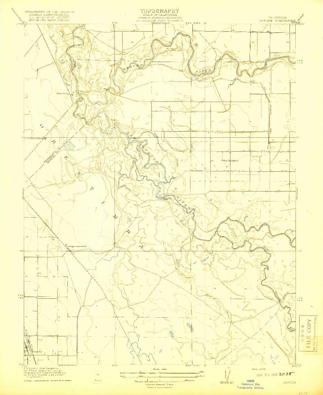 USGS 1:31680-SCALE QUADRANGLE FOR GUSTINE, CA 1918