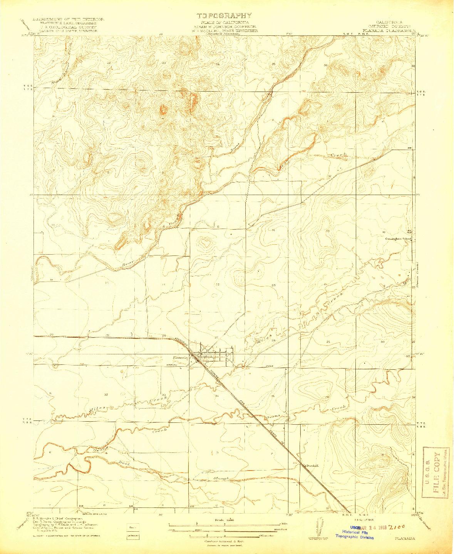 USGS 1:31680-SCALE QUADRANGLE FOR PLANADA, CA 1918