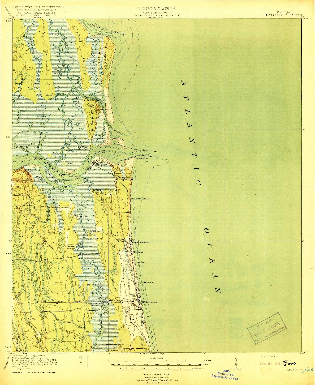 USGS 1:62500-SCALE QUADRANGLE FOR MAYPORT, FL 1918