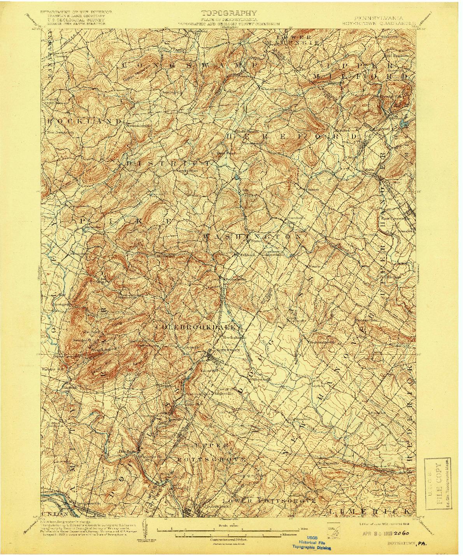 USGS 1:62500-SCALE QUADRANGLE FOR BOYERTOWN, PA 1902
