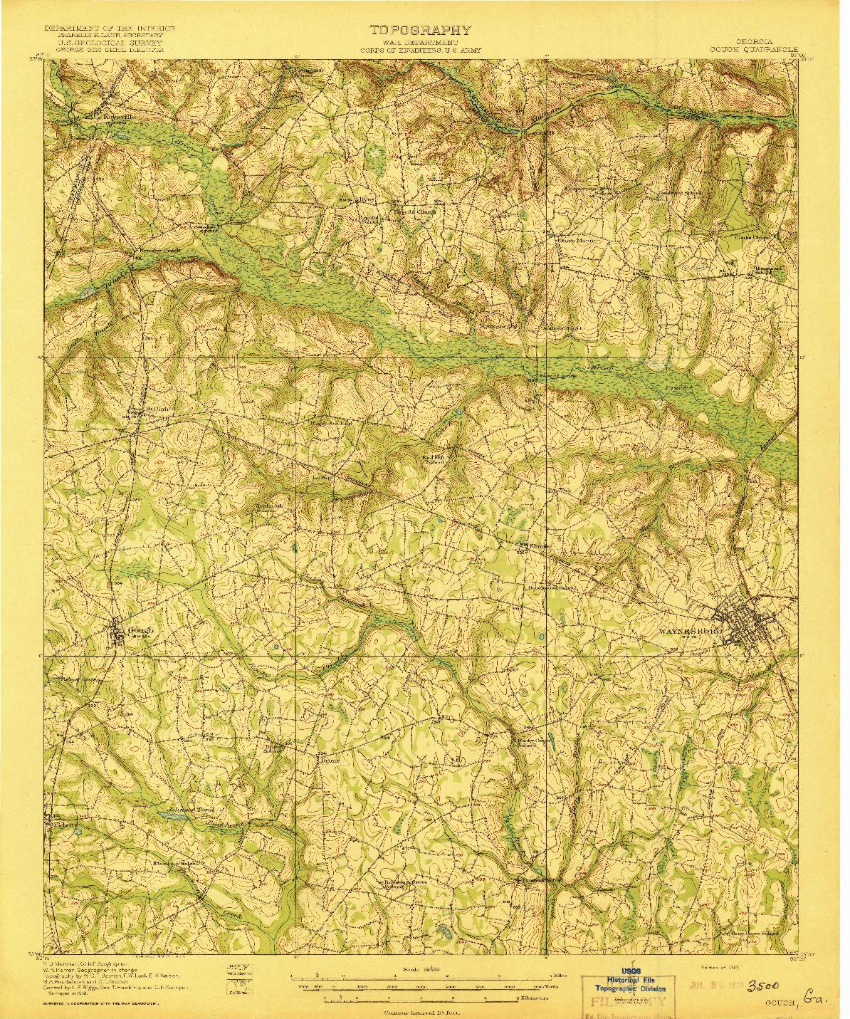 USGS 1:62500-SCALE QUADRANGLE FOR GOUGH, GA 1919