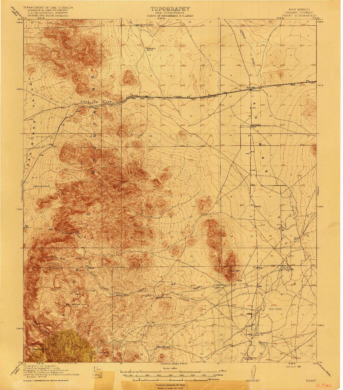 USGS 1:62500-SCALE QUADRANGLE FOR PRATT, NM 1919