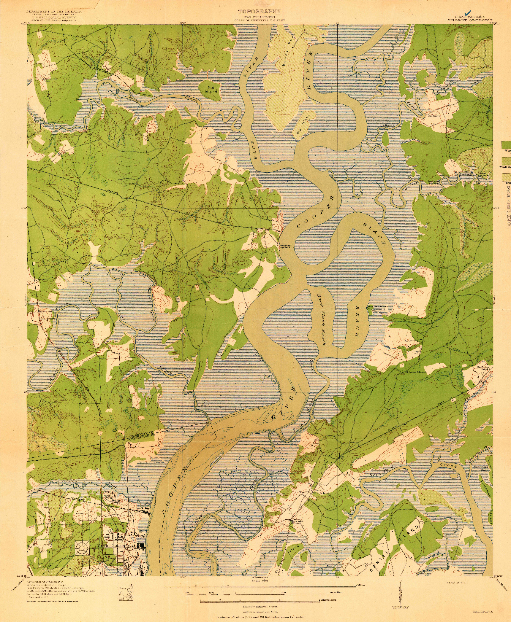USGS 1:21120-SCALE QUADRANGLE FOR MELGROVE, SC 1919