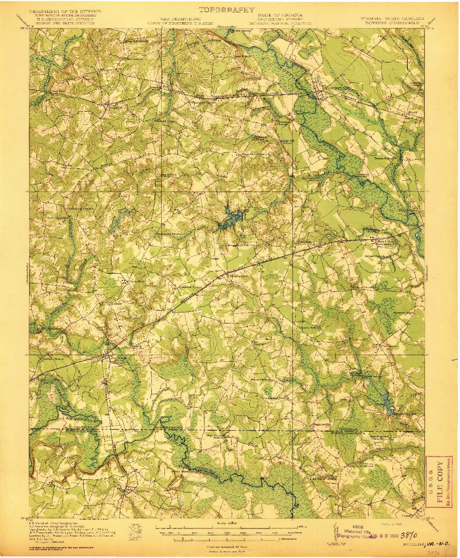 USGS 1:62500-SCALE QUADRANGLE FOR BOYKINS, VA 1920