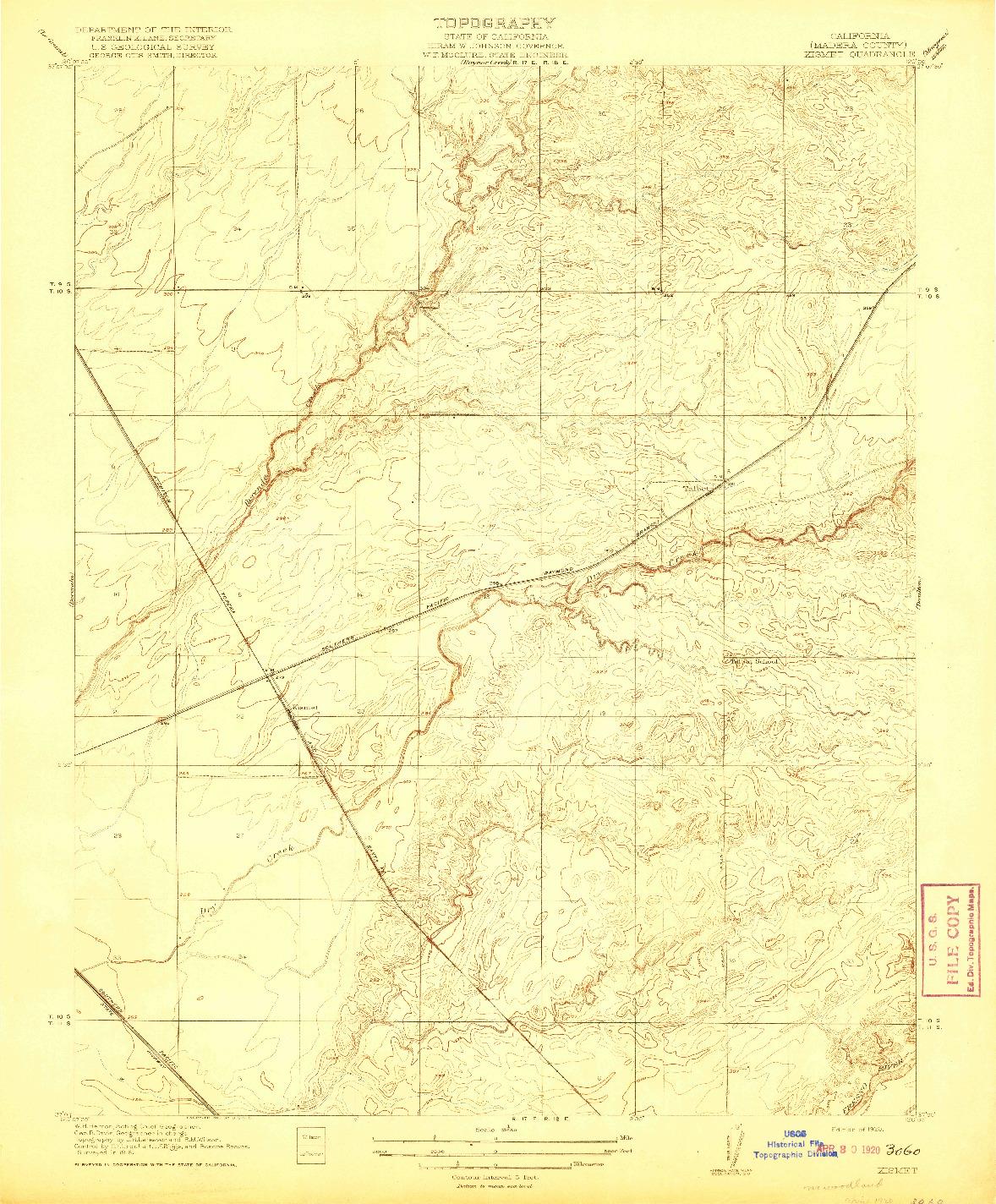 USGS 1:31680-SCALE QUADRANGLE FOR KISMET, CA 1920