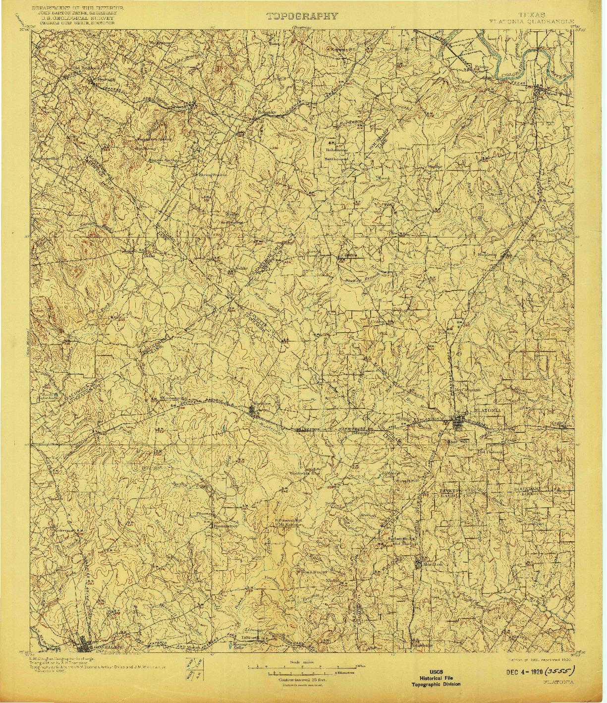 USGS 1:125000-SCALE QUADRANGLE FOR FLATONIA, TX 1901