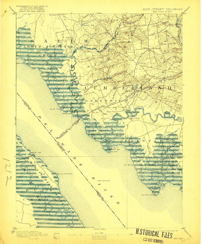 USGS 1:62500-SCALE QUADRANGLE FOR BAY SIDE, NJ 1894