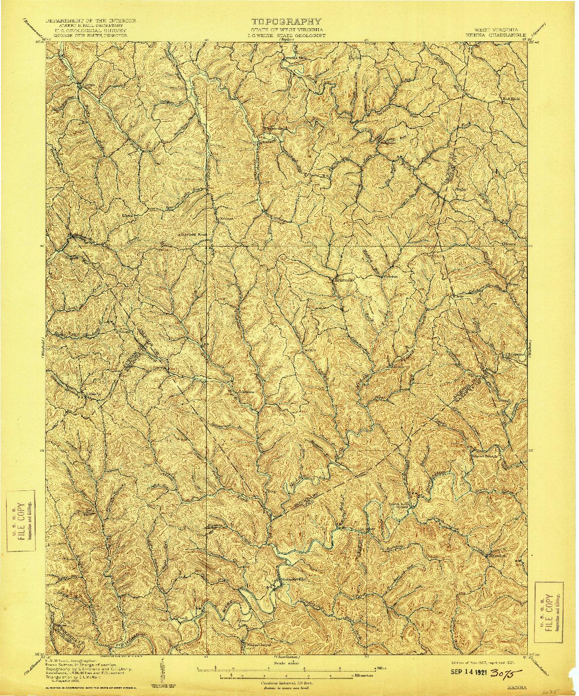 USGS 1:62500-SCALE QUADRANGLE FOR KENNA, WV 1907