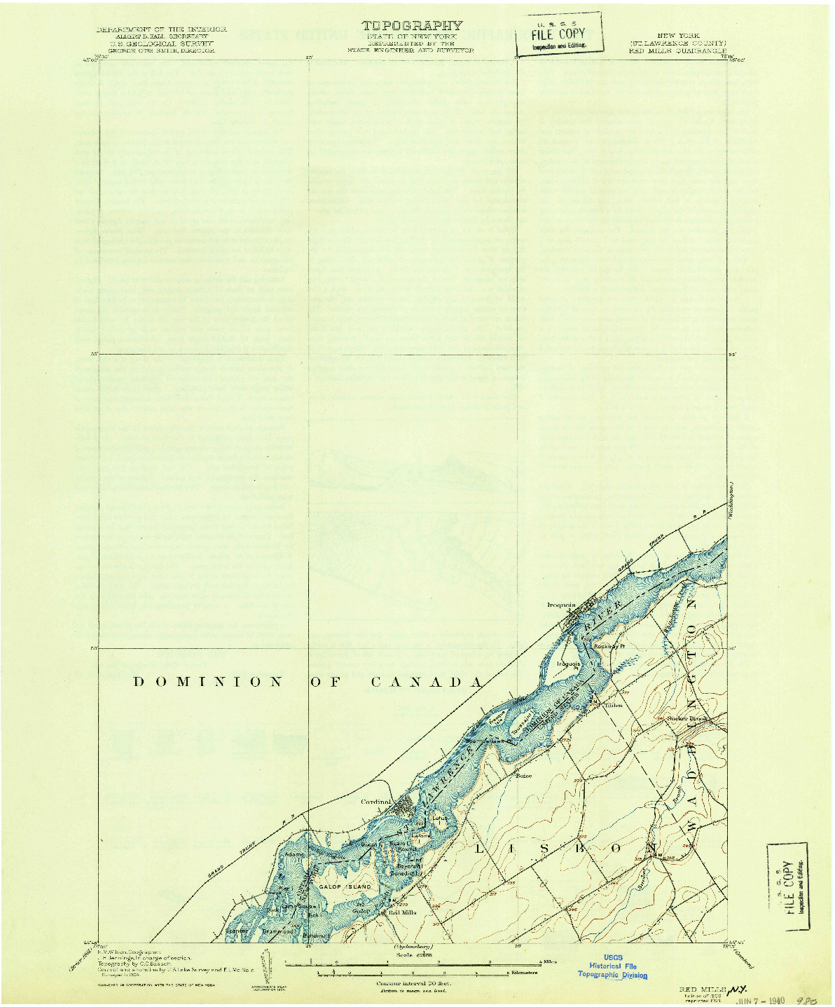 USGS 1:62500-SCALE QUADRANGLE FOR RED MILLS, NY 1906