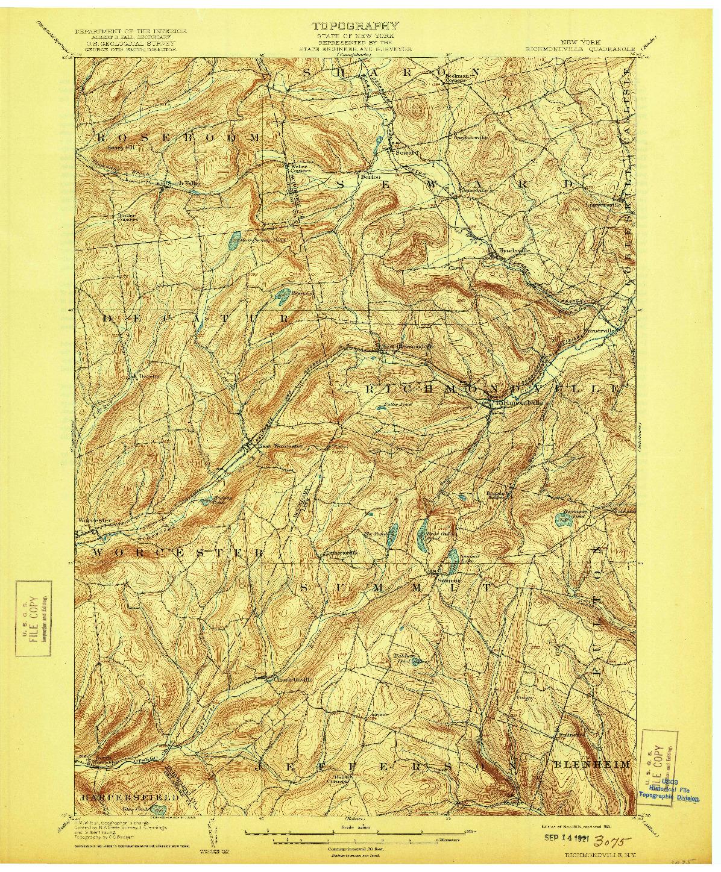 USGS 1:62500-SCALE QUADRANGLE FOR RICHMONDVILLE, NY 1904