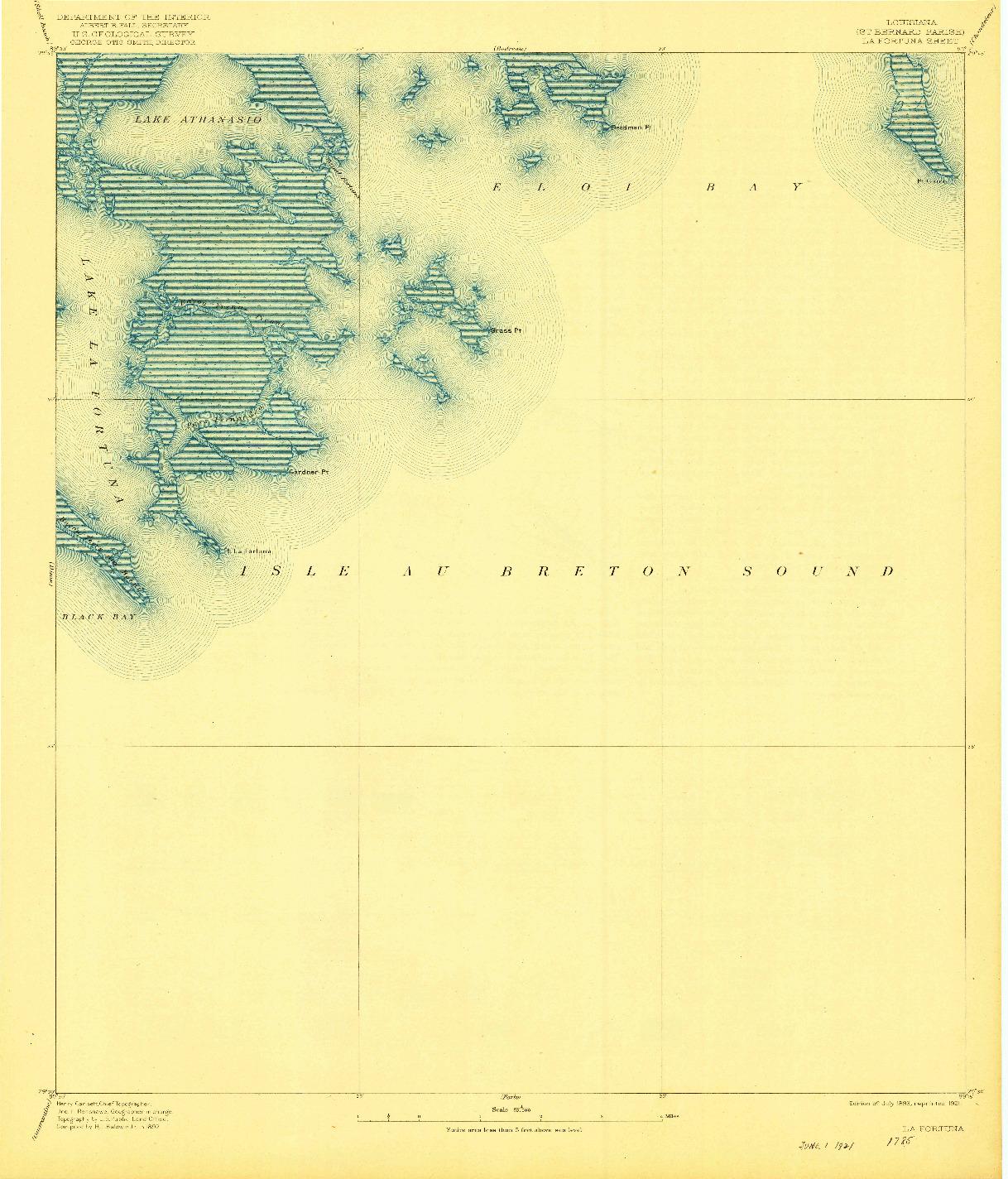 USGS 1:62500-SCALE QUADRANGLE FOR LA FORTUNA, LA 1893