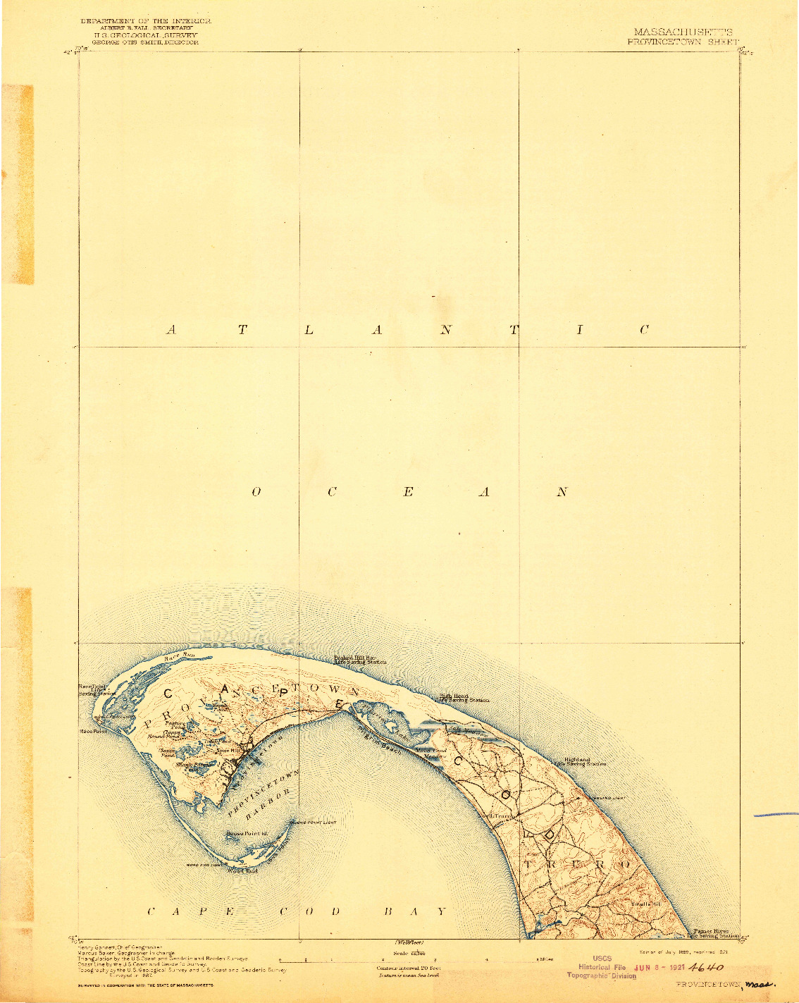 USGS 1:62500-SCALE QUADRANGLE FOR PROVINCETOWN, MA 1889