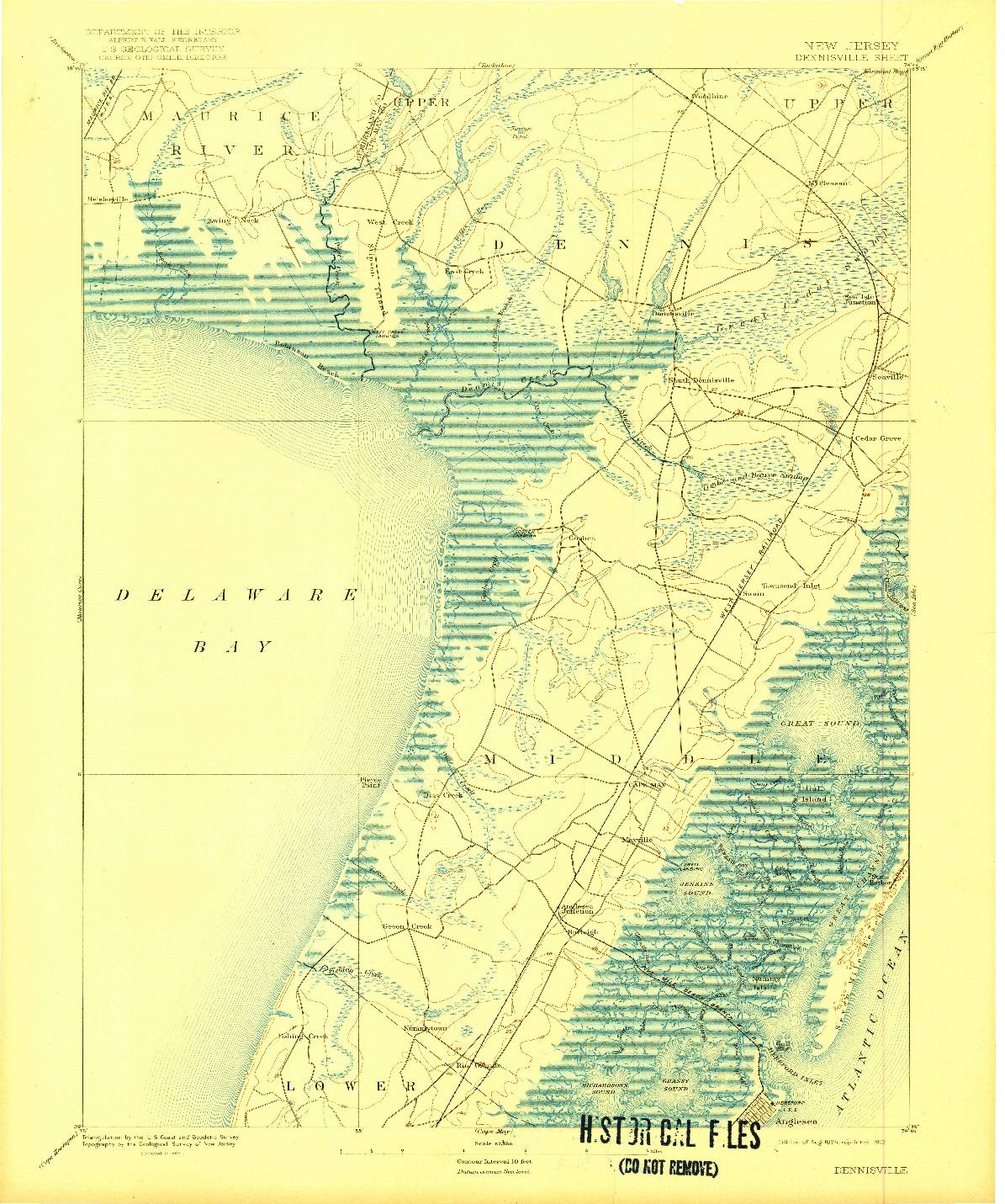 USGS 1:62500-SCALE QUADRANGLE FOR DENNISVILLE, NJ 1894
