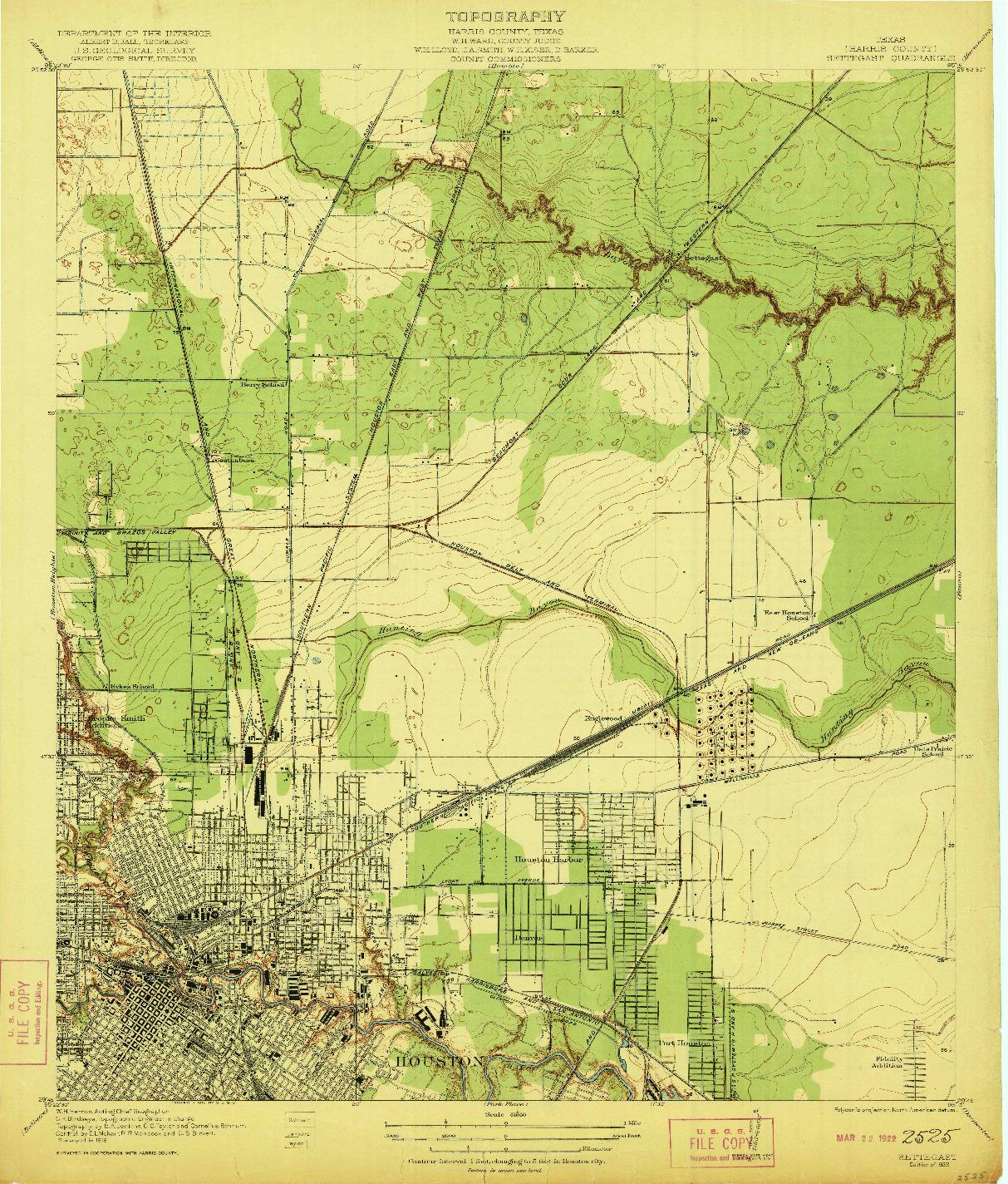 USGS 1:31680-SCALE QUADRANGLE FOR SETTEGAST, TX 1922