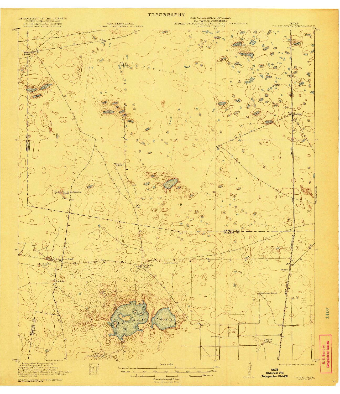 USGS 1:62500-SCALE QUADRANGLE FOR LA SAL VIEJA, TX 1922