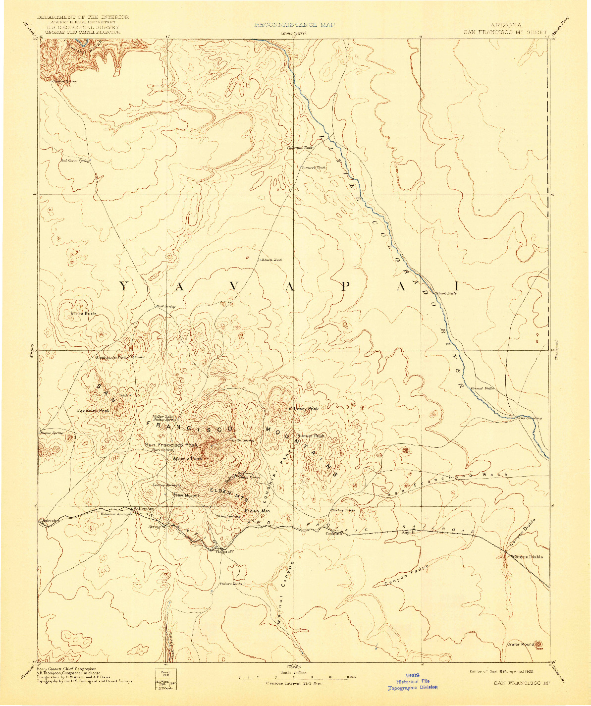 USGS 1:250000-SCALE QUADRANGLE FOR SAN FRANCISCO MTNS, AZ 1899