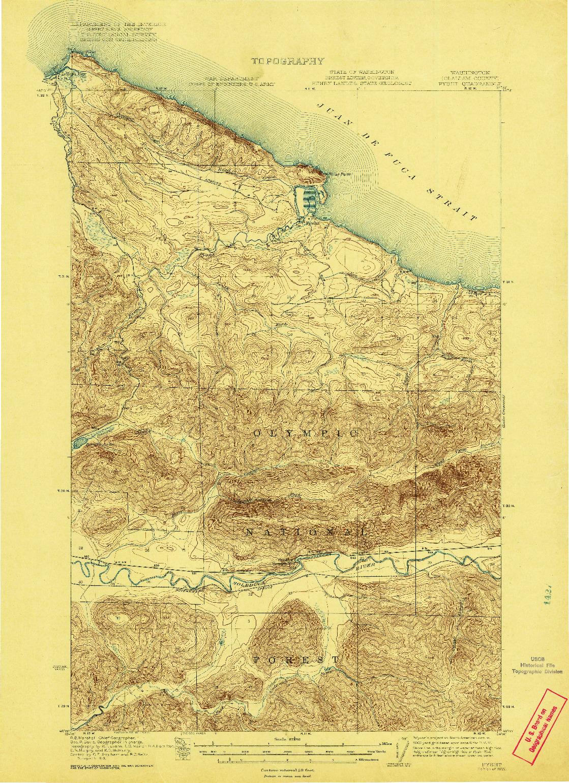 USGS 1:62500-SCALE QUADRANGLE FOR PYSHT, WA 1922