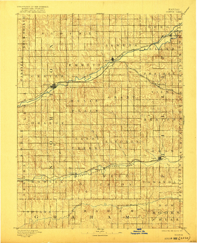 USGS 1:125000-SCALE QUADRANGLE FOR NORTON, KS 1893