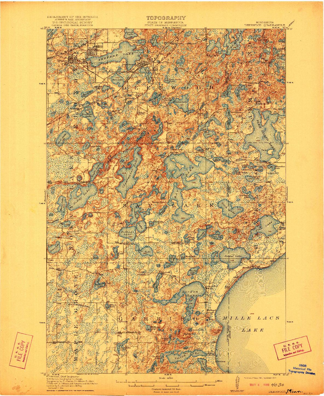 USGS 1:62500-SCALE QUADRANGLE FOR DEERWOOD, MN 1914