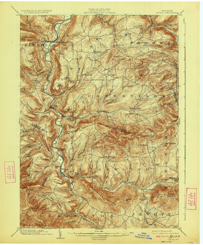 USGS 1:62500-SCALE QUADRANGLE FOR GILBOA, NY 1903