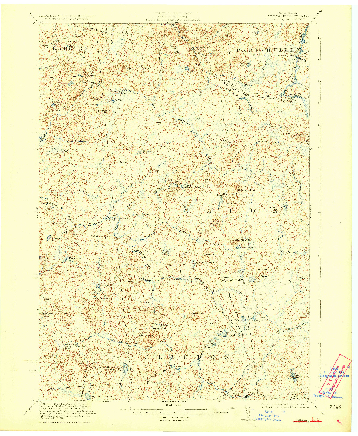 USGS 1:62500-SCALE QUADRANGLE FOR STARK, NY 1923