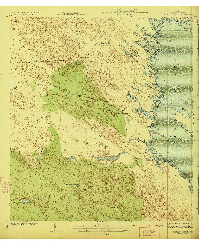 USGS 1:62500-SCALE QUADRANGLE FOR SALTILLO RANCH, TX 1923
