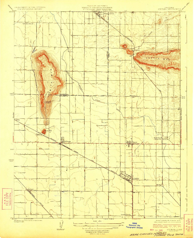 USGS 1:31680-SCALE QUADRANGLE FOR SULTANA, CA 1923