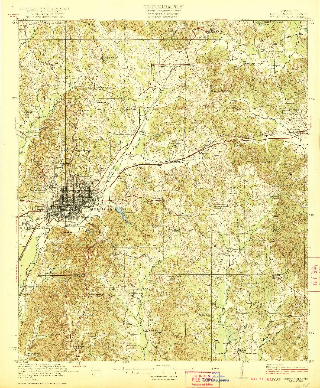 USGS 1:62500-SCALE QUADRANGLE FOR MERIDIAN, MS 1923