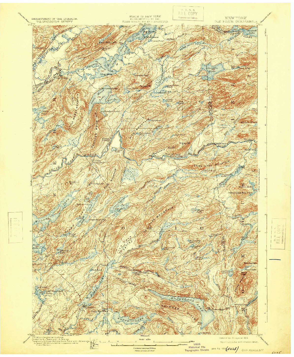 USGS 1:62500-SCALE QUADRANGLE FOR OLD FORGE, NY 1901