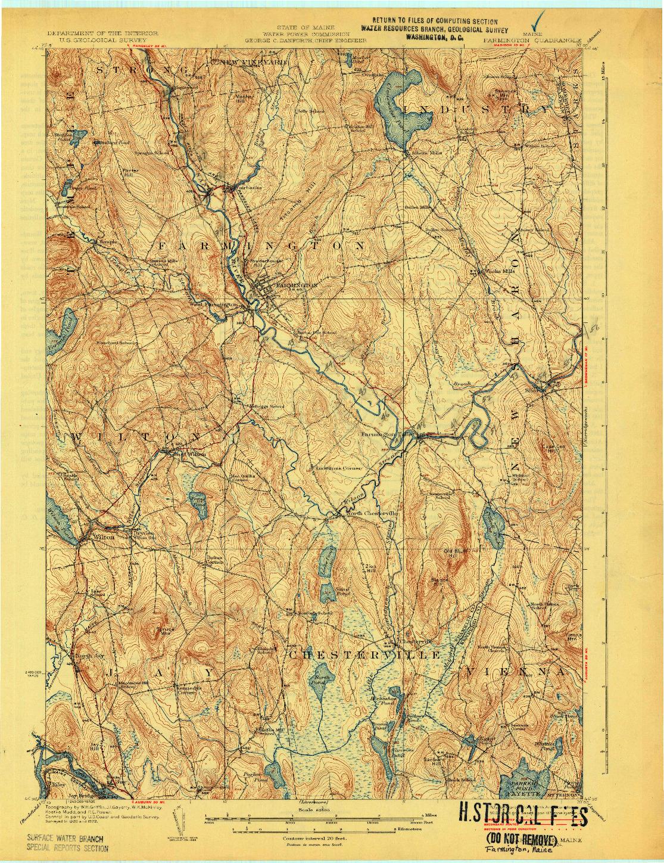 USGS 1:62500-SCALE QUADRANGLE FOR FARMINGTON, ME 1924