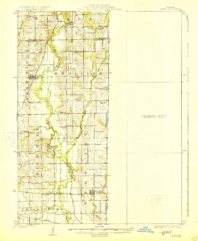 USGS 1:62500-SCALE QUADRANGLE FOR CHULA, MO 1924