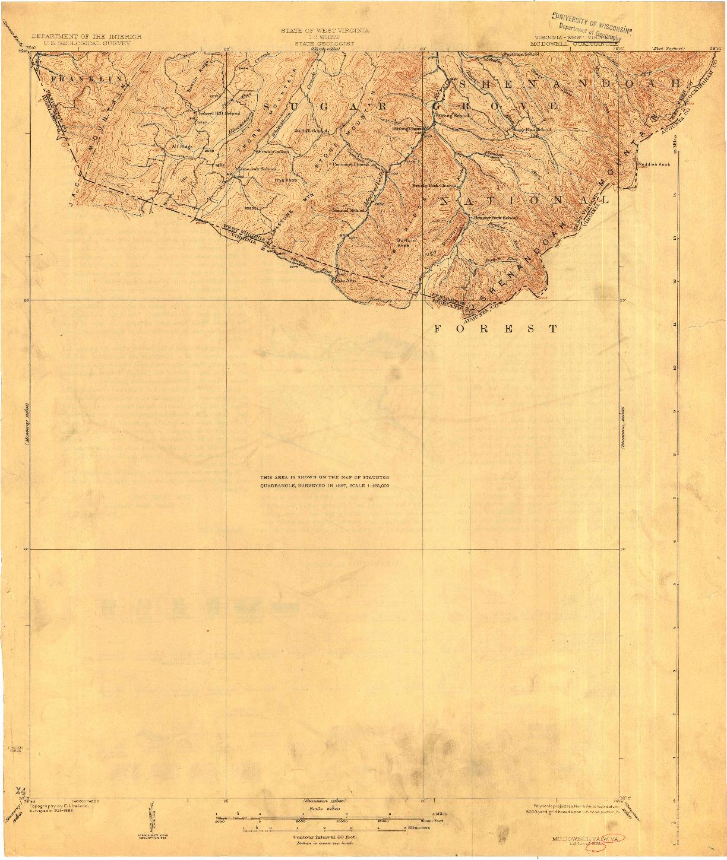 USGS 1:62500-SCALE QUADRANGLE FOR MC DOWELL, VA 1924