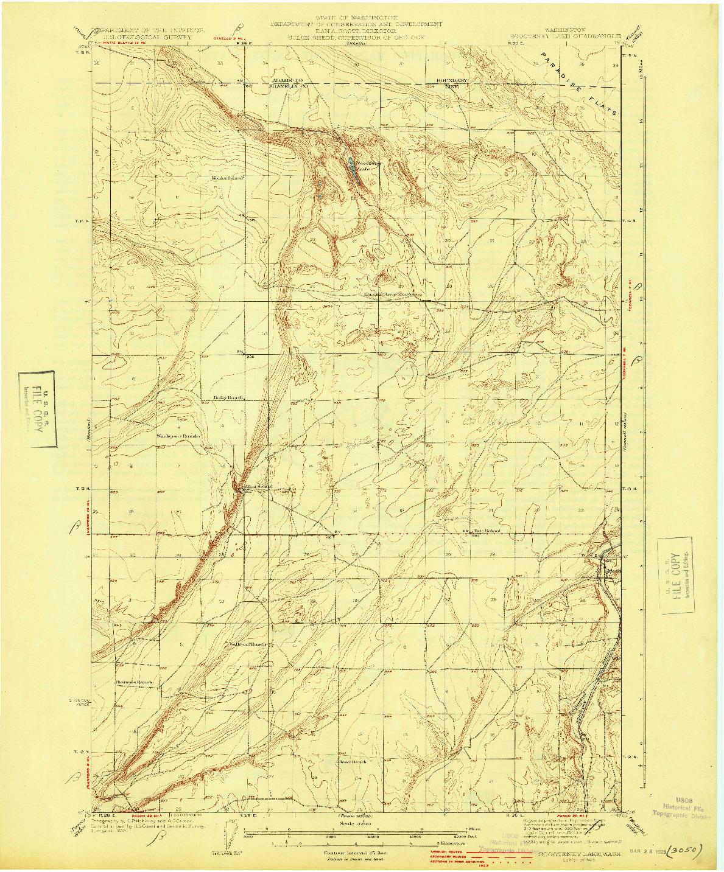 USGS 1:62500-SCALE QUADRANGLE FOR SCOOTENEY LAKE, WA 1925
