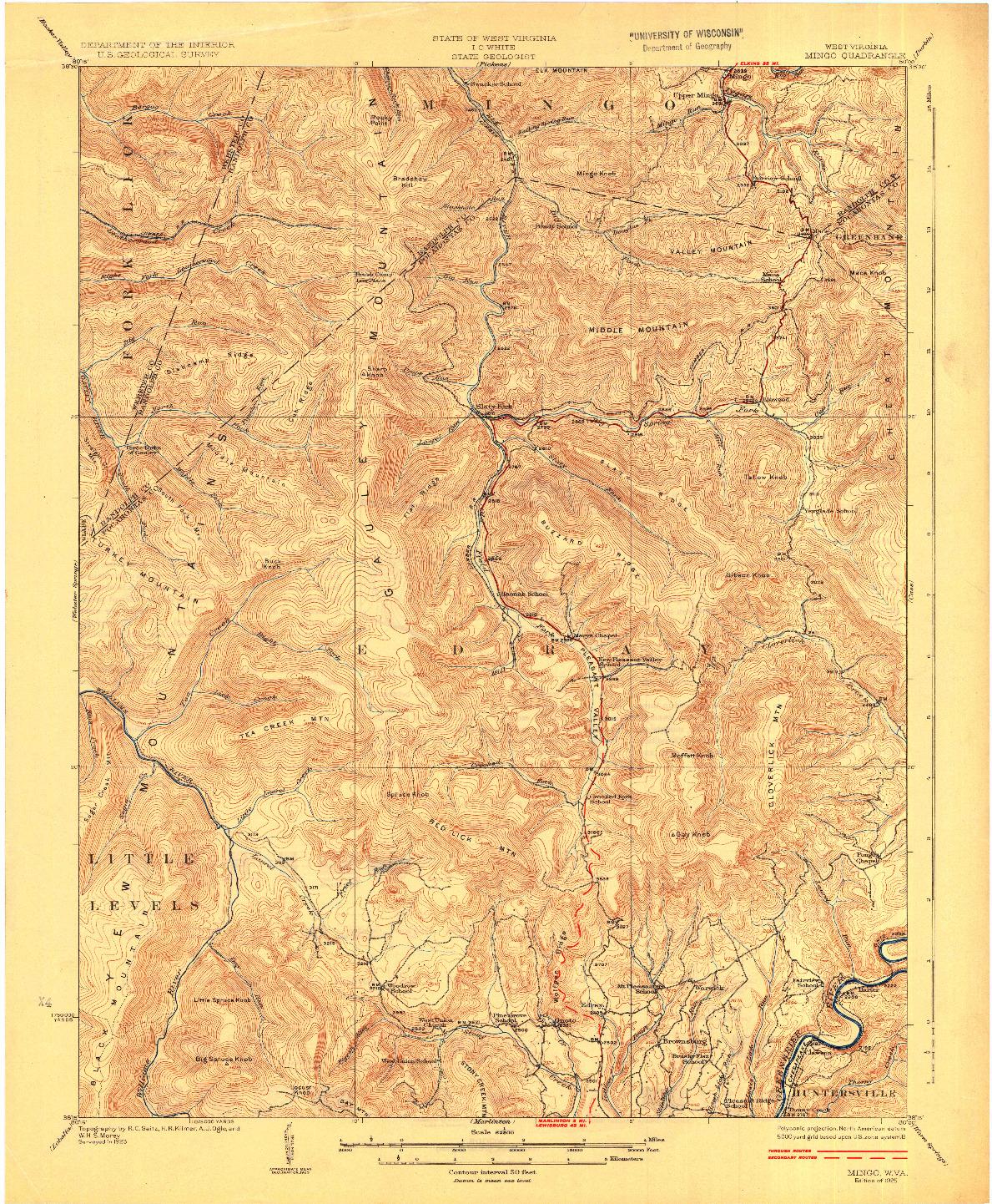 USGS 1:62500-SCALE QUADRANGLE FOR MINGO, WV 1925