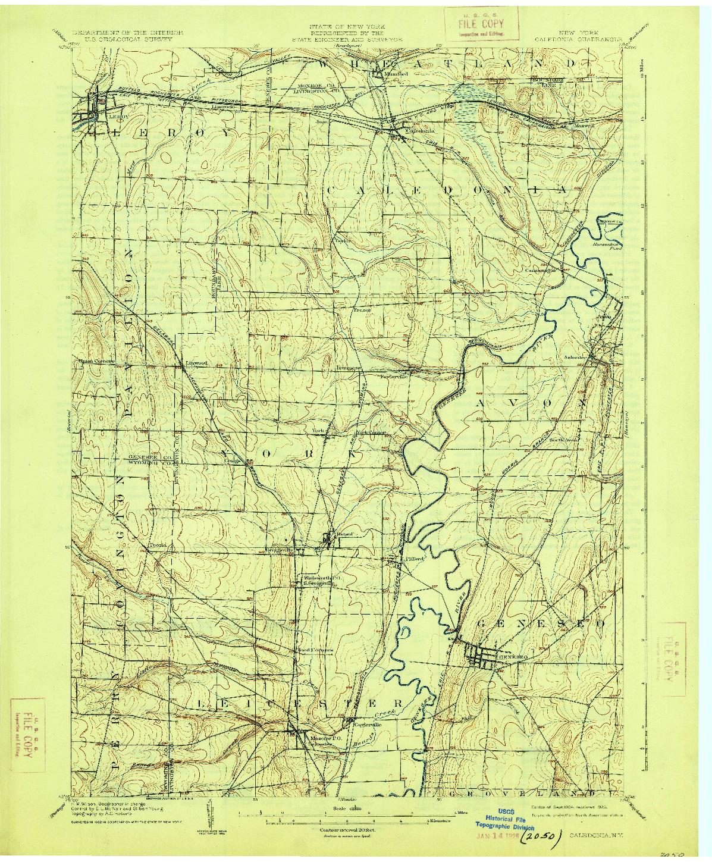 USGS 1:62500-SCALE QUADRANGLE FOR CALEDONIA, NY 1904