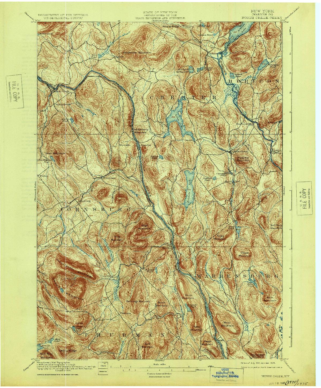USGS 1:62500-SCALE QUADRANGLE FOR NORTH CREEK, NY 1897