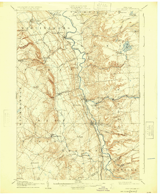 USGS 1:62500-SCALE QUADRANGLE FOR PORT LEYDEN, NY 1907