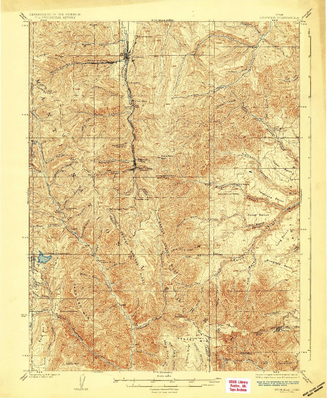 USGS 1:62500-SCALE QUADRANGLE FOR SCOFIELD, UT 1925