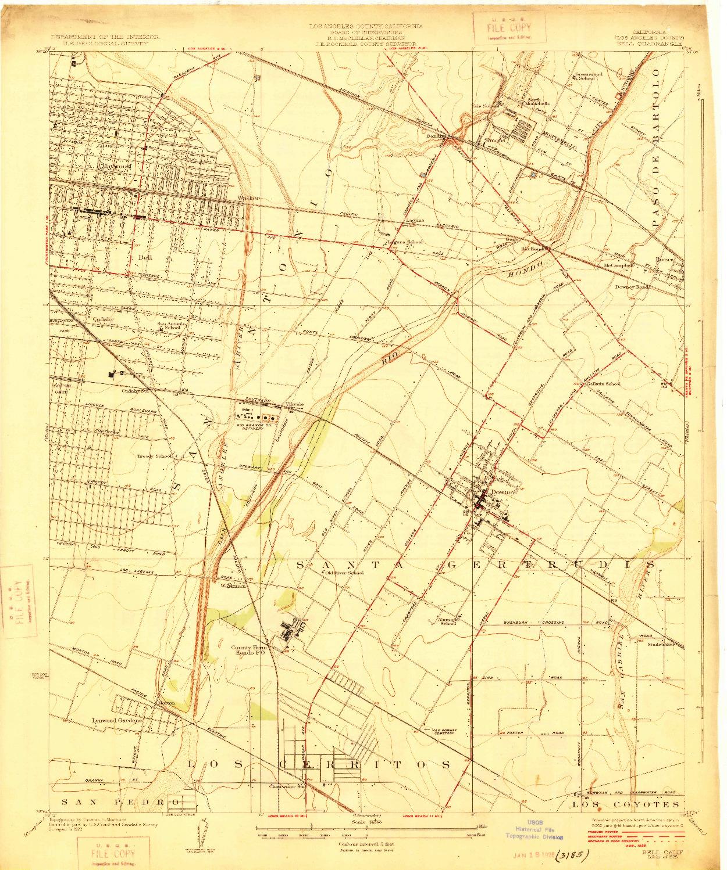 USGS 1:24000-SCALE QUADRANGLE FOR BELL, CA 1925