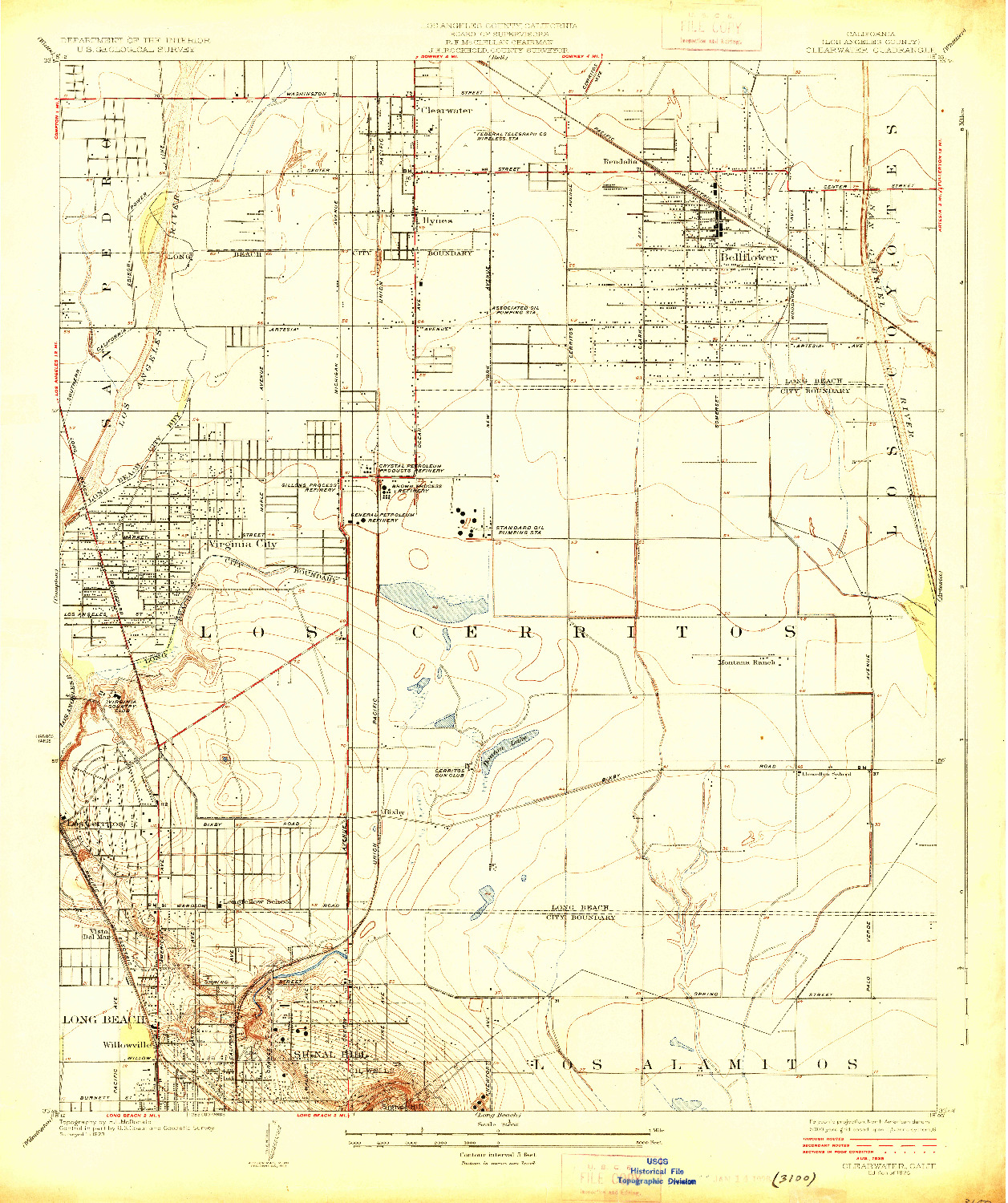 USGS 1:24000-SCALE QUADRANGLE FOR CLEARWATER, CA 1925