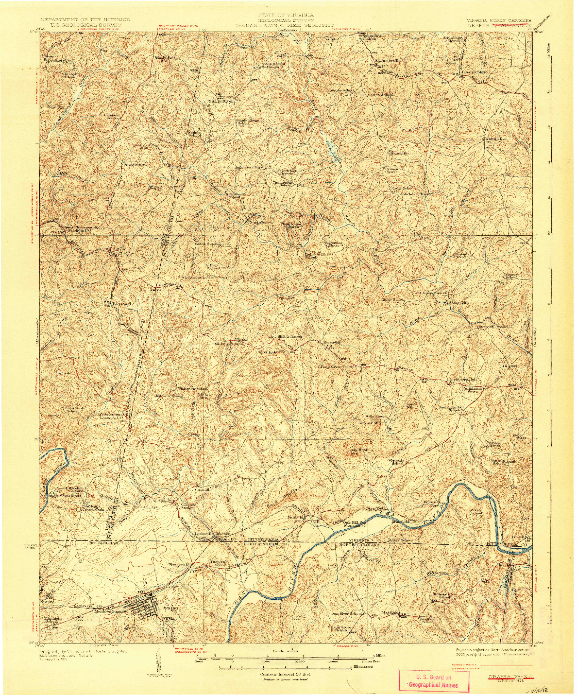 USGS 1:62500-SCALE QUADRANGLE FOR DRAPER, VA 1926