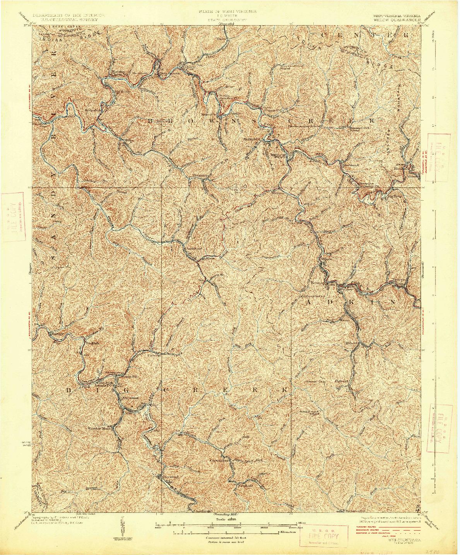 USGS 1:62500-SCALE QUADRANGLE FOR WELCH, WV 1926