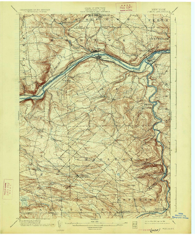 USGS 1:62500-SCALE QUADRANGLE FOR FONDA, NY 1902