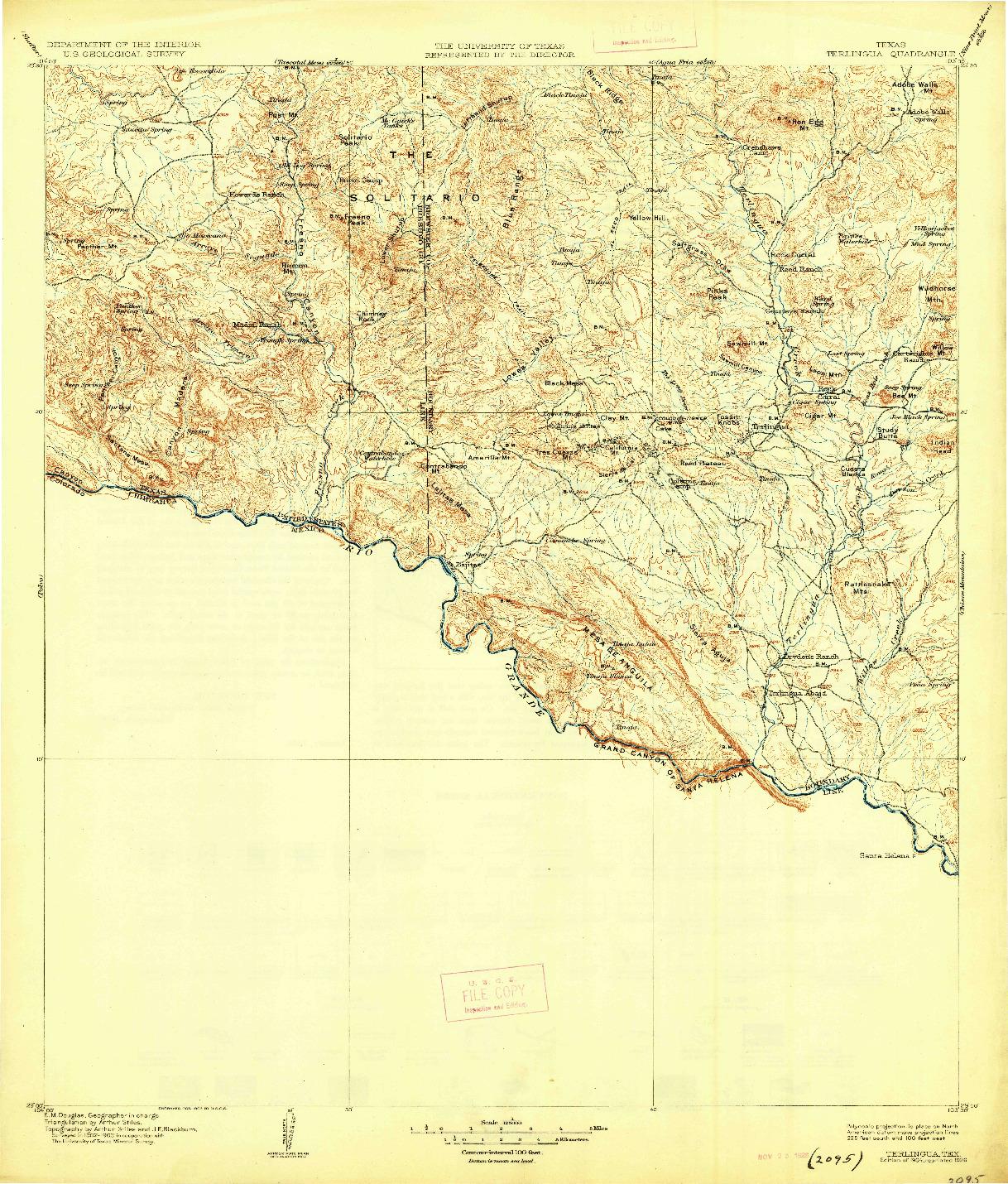 USGS 1:125000-SCALE QUADRANGLE FOR TERLINGUA, TX 1904